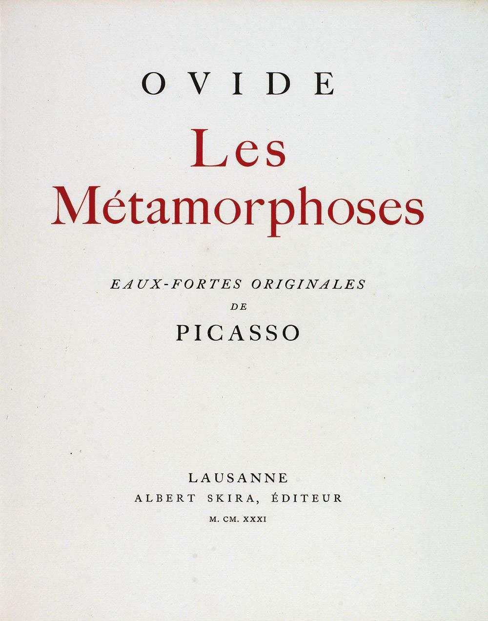 Les Métamorphoses (rist. anast. 1931). Ediz. illustrata